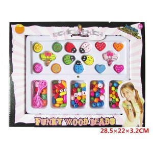 Good selling for girl colorful DIY bracelet funky wood beads toy set No.:S130B