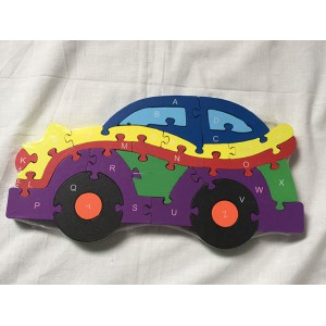 New funny item for gift 26 alphabet words car airplane vehicle wooden puzzle toy No.:ZS-9