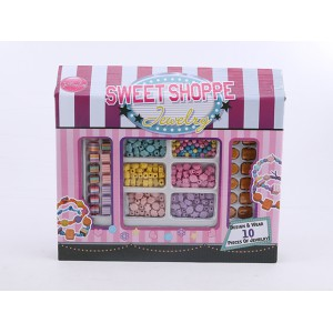 DIY fashion handicraft sweet shoppe magic beads toy wooden jewelry toy for kids No.:11392