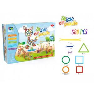 Kids colorful DIY 60pieces 260pieces 580pieces 800pieces building blocks puzzle clever stick toy set No.:222-3