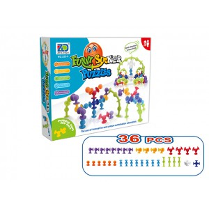 Kids colorful DIY 60pieces 260pieces 580pieces 800pieces building blocks puzzle clever stick toy set No.:222-5