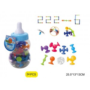Promotional soft rubber intelligent new funny puzzle building block suction ball toys No.:222-6