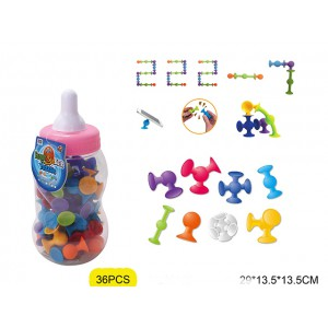 High quanlity soft rubber intelligent puzzle building block suction ball toys No.:222-7