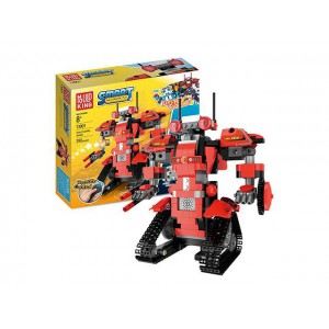 2.4g remote control building blocks intelligent Robert robot 395pcs power pack toy No.:13001