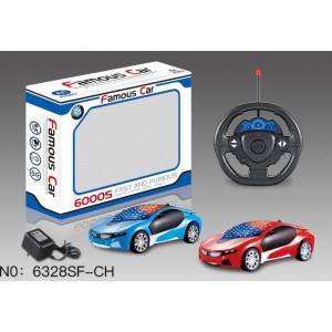 1:22 3D 4 Channel R/C Remote Control Cars included Battery and Charger 6328SF-CH