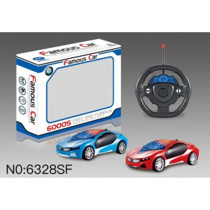 1:22 3D 4 Channel R/C Remote Control Cars 6328SF
