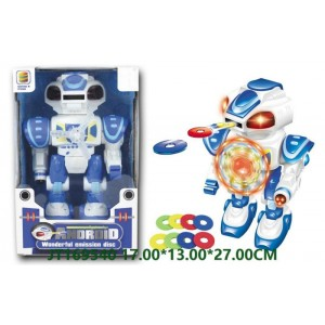 Kids B/O Emitting Disks Robot With Lights NO.JT169540
