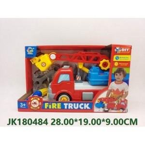 Cartoon Friction Fire Truck Toy NO.JK180484