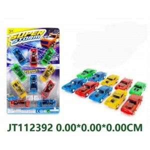 10PCS Transparent Color Pull Back Toy Car NO.JT112392