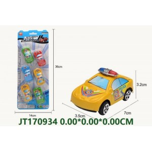 6PCS Small Size Pull Back Police Car Toy NO.JT170934