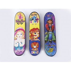 Children cartoon plastic PVC four-wheel skateboard toys No.:SY-S318