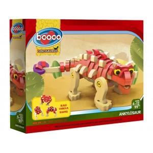 For children design deep red ankylosaurus education toys No.:ZX811