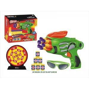 Pop Pull Back Bullet Pistol With Eight Bullets NO.JK180284