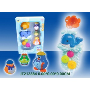 Educational Cute Whale Swim and Bath Toy Set NO.JT212884