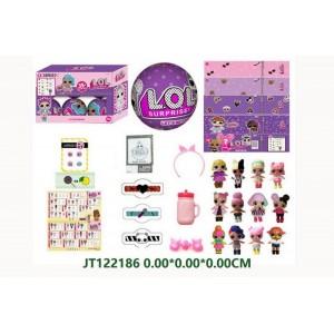 9.5CM Purple DIY Funny Doll Set NO.JT122186