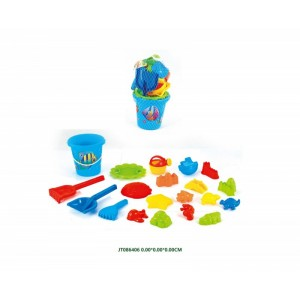 20PCS Outdoor Playing Beach Set Toys With Bucket NO.JT086406
