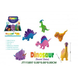 Cartoon Soft Plastic Dinosaur Set Toys NO.JT115897