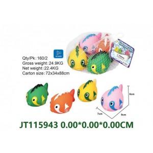 Cute Shape Vinyl Fishes Set Toys With Sound NO.JT115943