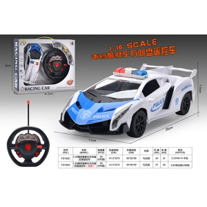 1:16 RC remote control cars police car toys - steering wheel remote control included battery No.FD192X