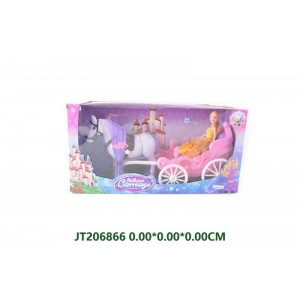 Hot Sale Beautiful Pincess Doll With Carriage NO.JT206866