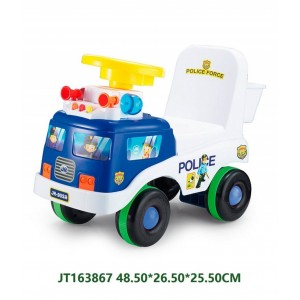 Popular Blue Police Sliding Car For Kids Driving NO.JT163867