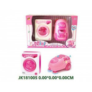 Simulation B/O Washing Machine and Vacuum Toy For Kids No.JK181005