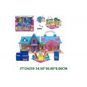 Funny Pretend Kitchen Play Set With Fridge and Two Dolls No.JT124259