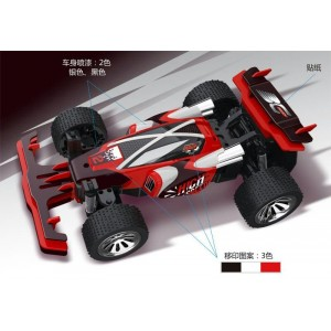 6-Function 2.4GHz high speed R/C Buggy 1:12 scale with switchable sound and speeding-up function No.:BM078