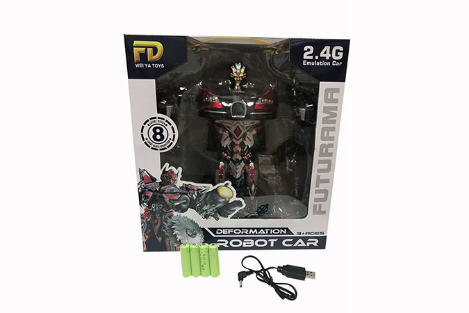 2.4G deformation RC remote control car with music, induction, lights included battery No.FD138X