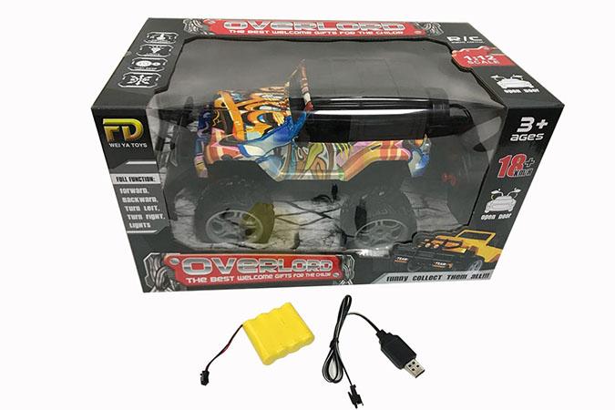 1:12 RC remote control carsone key open door included battery cartoon graffiti Wrangler  No.FD151A