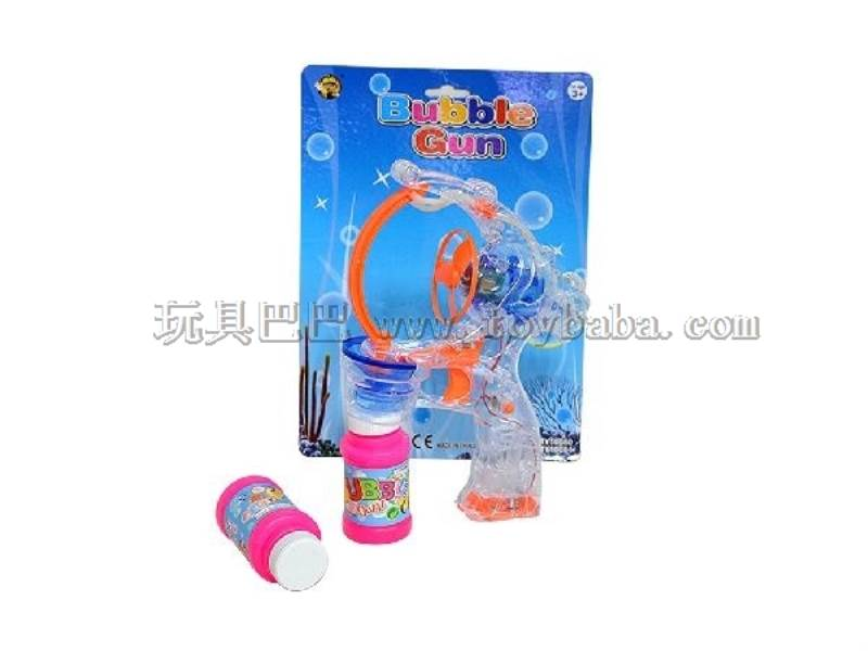 Transparent Big Bubble Double Flashing Automatic Bubble Gun with 2 Big Bubble Water