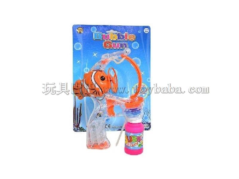 Transparent Big Bubble Double Spray-Paint Flashing Automatic Bubble Gun with 1 Big Bubble Water