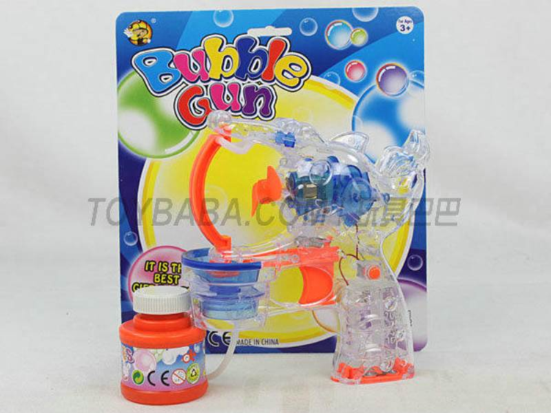 Transparent Medium Bubble Double Flashing Automatic Bubble Gun with 1 Big Bubble Water