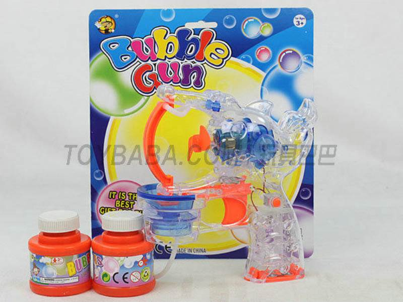 Transparent Medium Bubble Double Flashing Automatic Bubble Gun with 2 Big Bubble Water