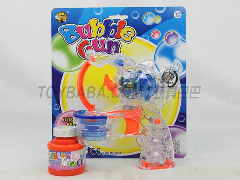 Transparent Medium Bubble Double Flashing Automatic Musical Bubble Gun with 1 Big Bubble Water