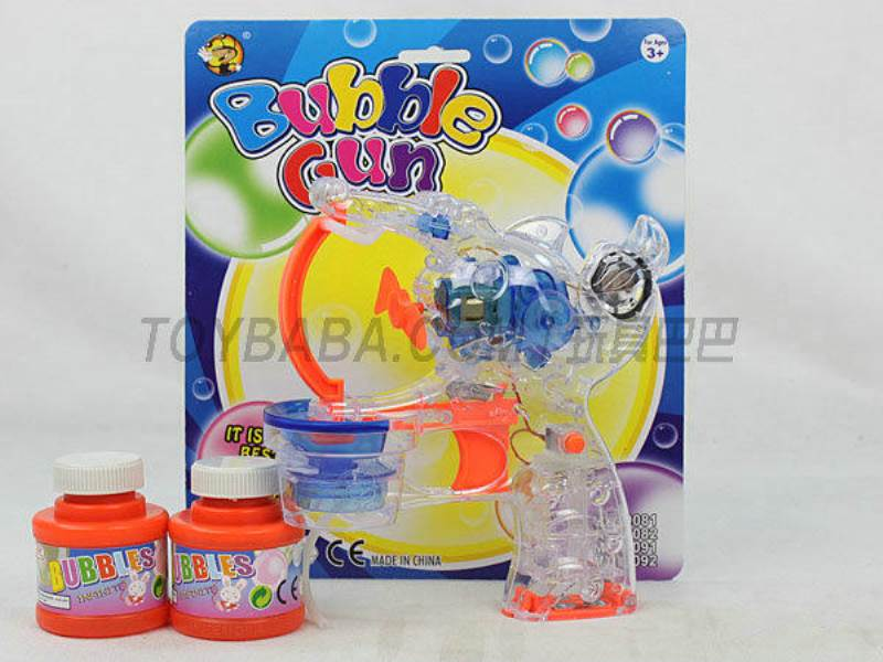 Transparent Medium Bubble Double Flashing Automatic Musical Bubble Gun with 2 Big Bubble Water