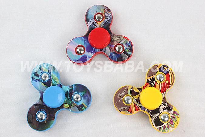 3 Colors EDC Fidget Spinner Hand Tri-Spinner Fidgets Anti Stress Toys-