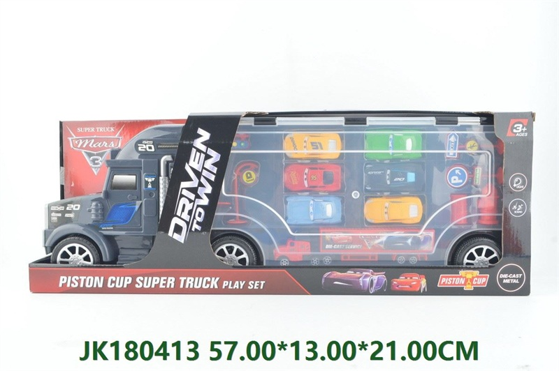 Portable alloy metal container truck with light and music  No.JK180413