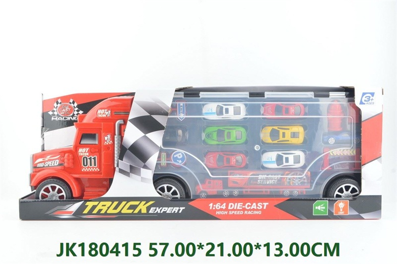 Portable alloy metal container truck with light and music  No.JK180415