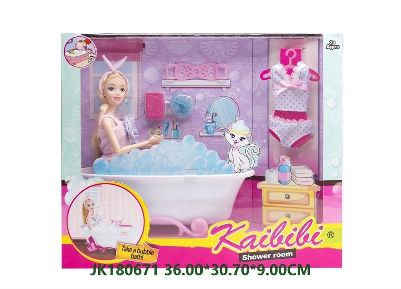 11.5 Inch Kaibibi Shower Room Barbie Doll Set Toys  No.JK180671