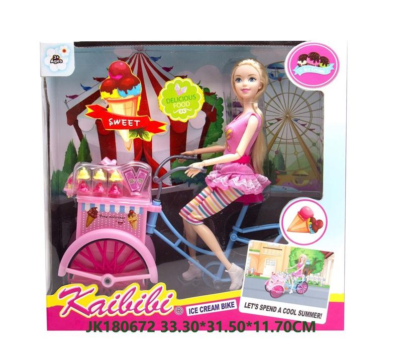 11.5 Inch Kaibibi Ice Cream Bike Barbie Doll Set Toys  No.JK180672
