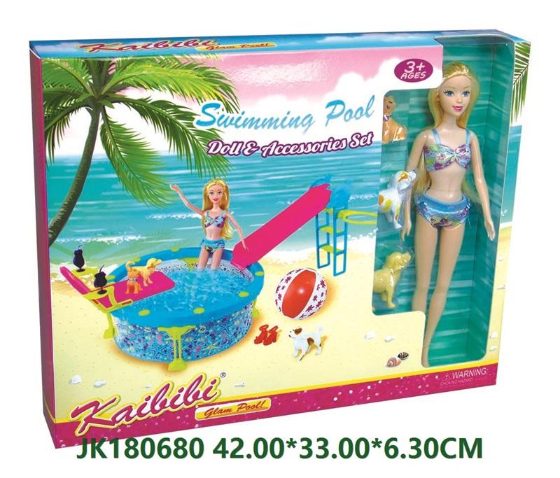 11.5 Inch Kaibibi Swimming Pool Barbie Doll Set Toys  No.JK180680