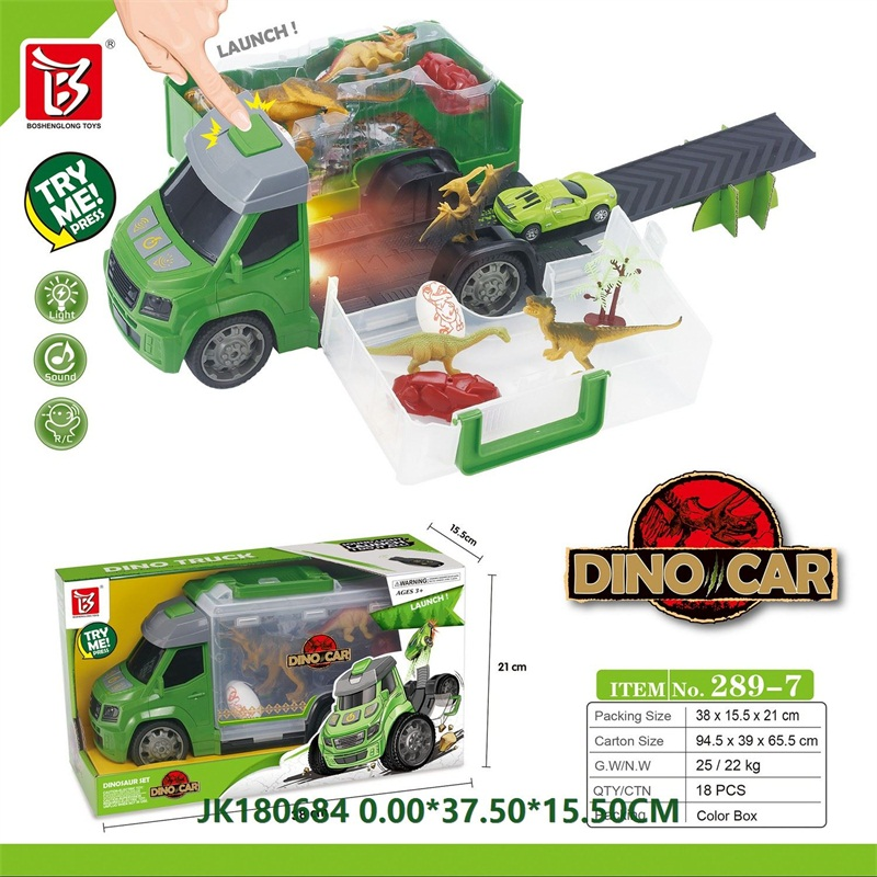 Launch Dinosaur Truck with Lights and Sounds  No.JK180684