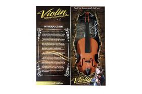 Wood grain touches the light electronic violin. No.:TK173691