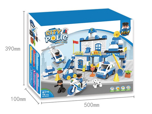 City police lego bricks in colour box children educational toys No.:2852A1