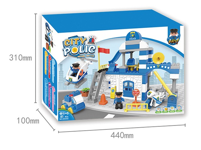 Building block city police lego bricks in colour educational toys No.:2852A2