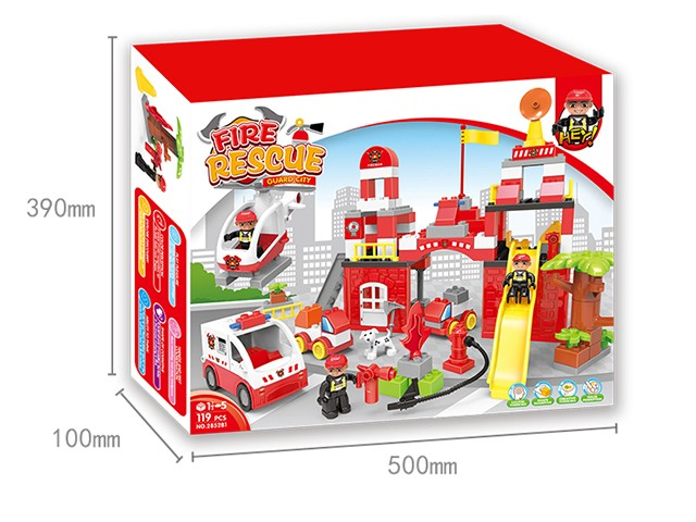 Fire department lego bricks building blocks children learning toys No.:2852B1