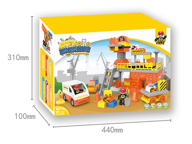Fancy construction team lego bricks children building block toys No.:2852C2