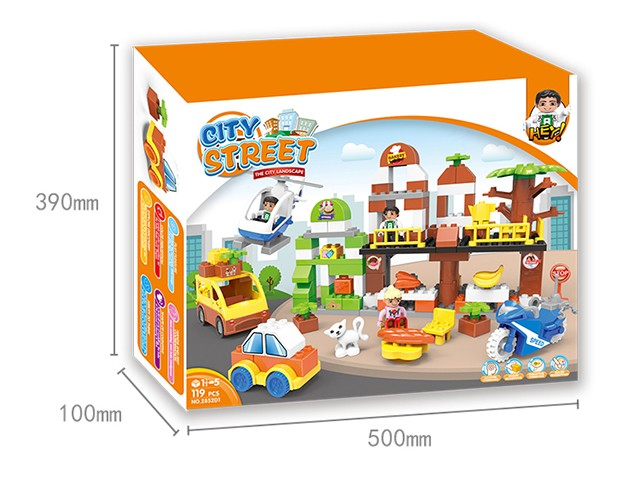 Fancy lego bricks in city square assembly blocks toy series No.:2852D1
