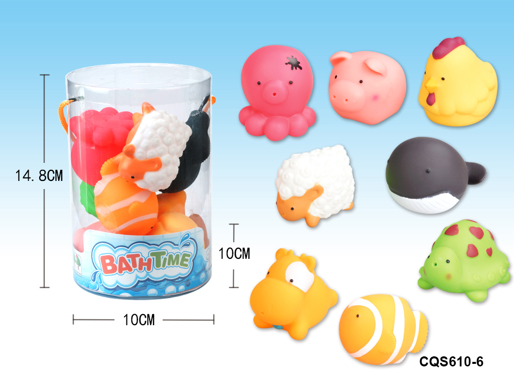 The fun bath time spray water animal kid educational bath toy No.:CQS610-6